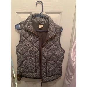 J Crew Women's Herringbone Vest